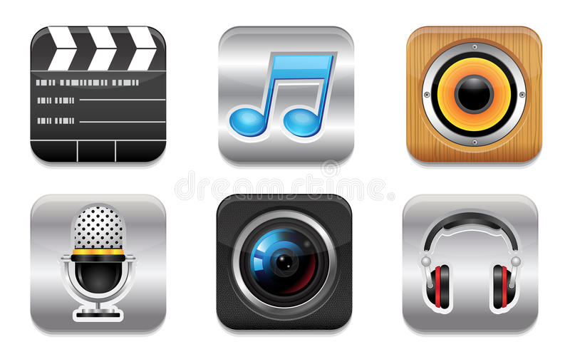 Download Entertainment icon set stock vector. Illustration of note - 27245545