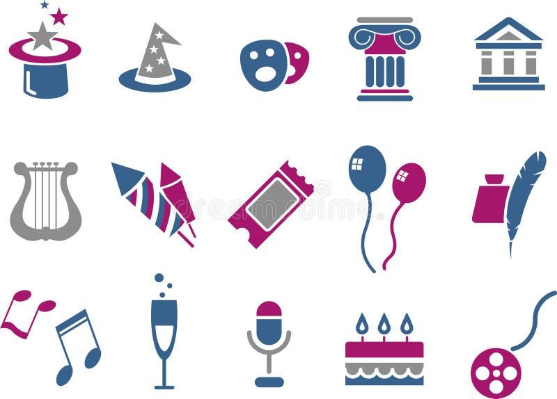 Entertainment Icon Set stock illustration