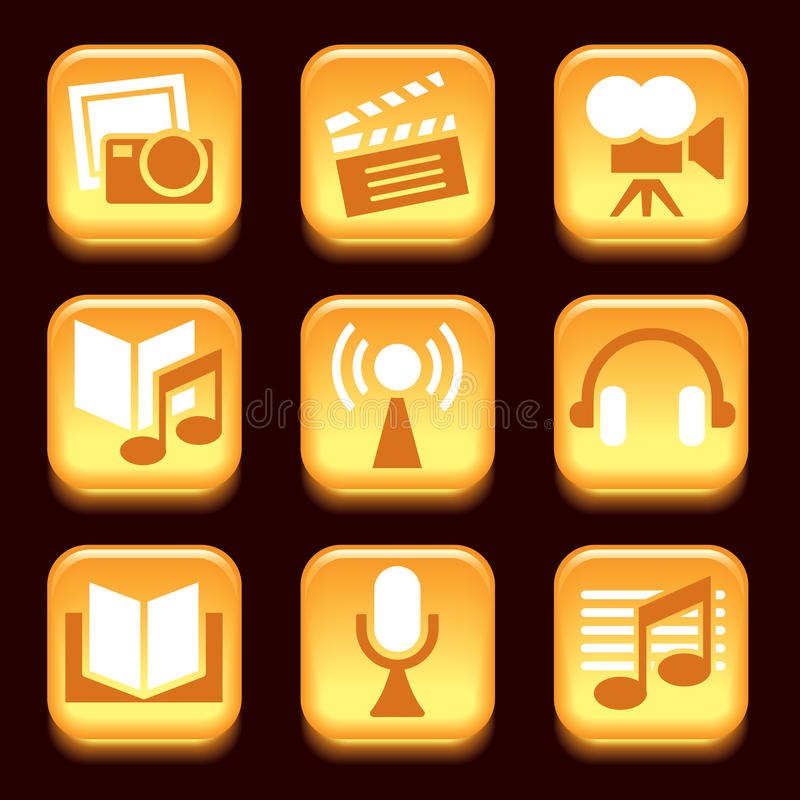 Download Entertainment icons stock vector. Illustration of icon - 29482064