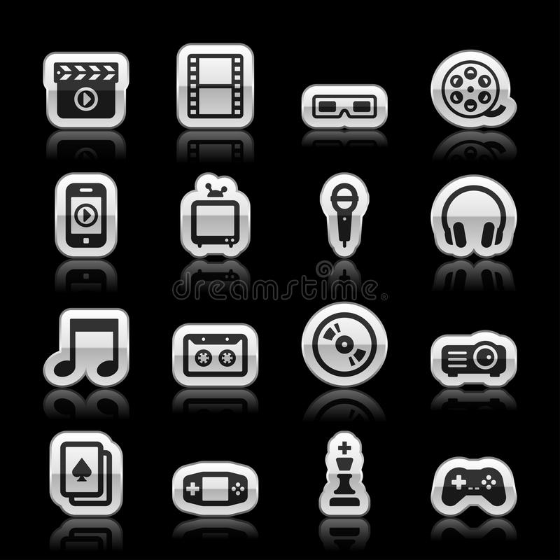 Download Entertainment icons stock vector. Image of microphone - 36493659