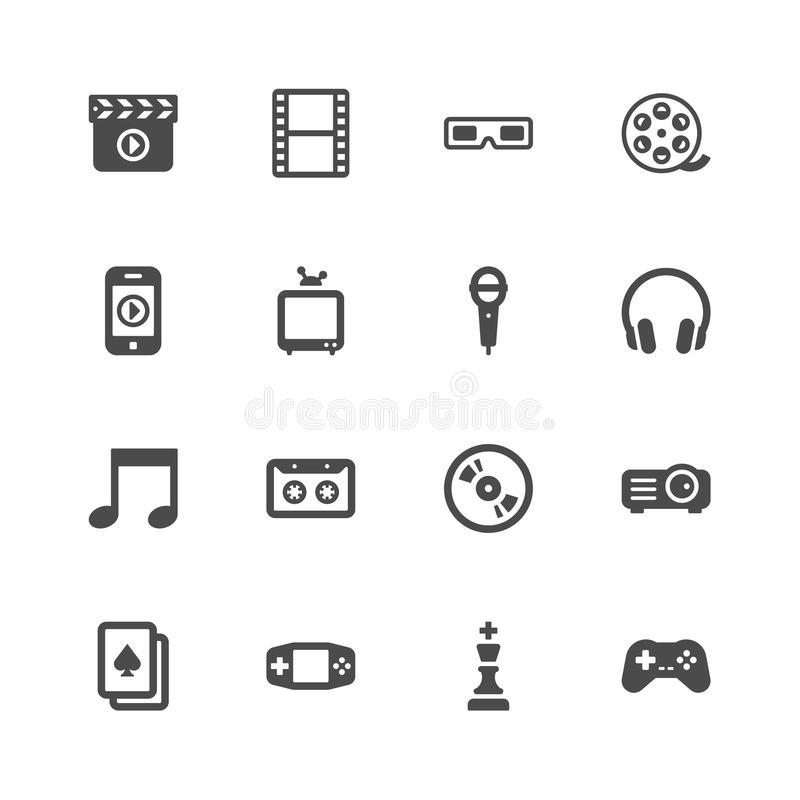 Entertainment Icons Stock Image