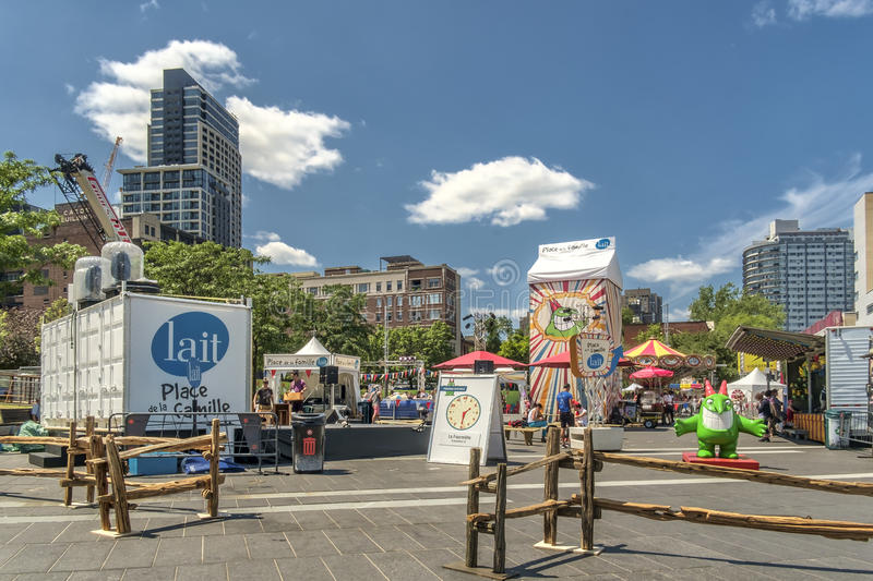 Entertainment at the Just for laughs festival royalty free stock photography