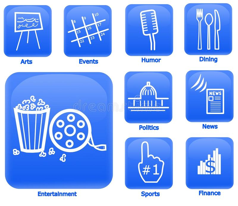 Download Entertainment And Media Icons Stock Illustration - Illustration: 20228017