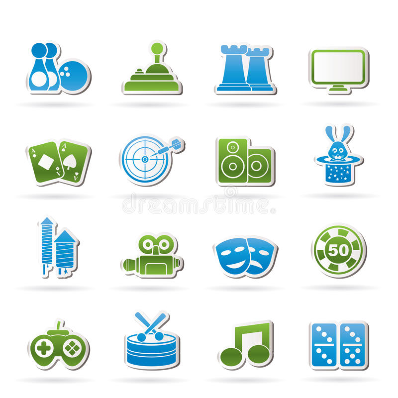 Download Entertainment Objects Icons Stock Vector - Image: 25048056