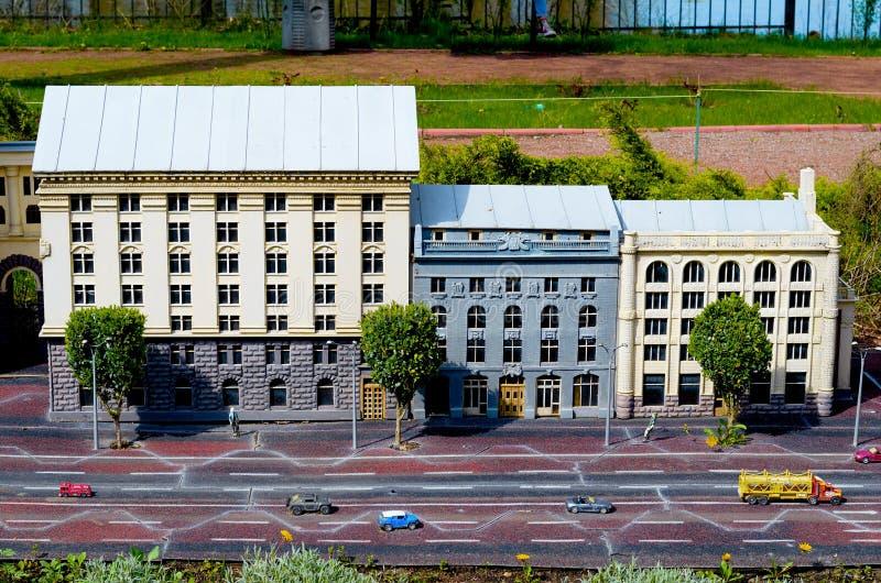 Entertainment Park Ukraine in Miniature .Small scale Ukraine. royalty free stock image