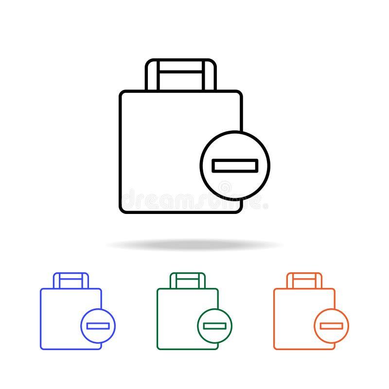 entfernen Sie Gepäckikone Elemente der einfachen Netzikone in der multi Farbe Erstklassige Qualitätsgrafikdesignikone Einfache Ik vektor abbildung