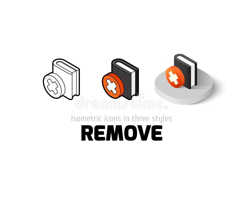 Entfernen Sie Ikone in der unterschiedlichen Art stock abbildung
