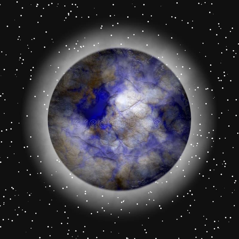 Entfernter Planet in der Atmosphäre stock abbildung