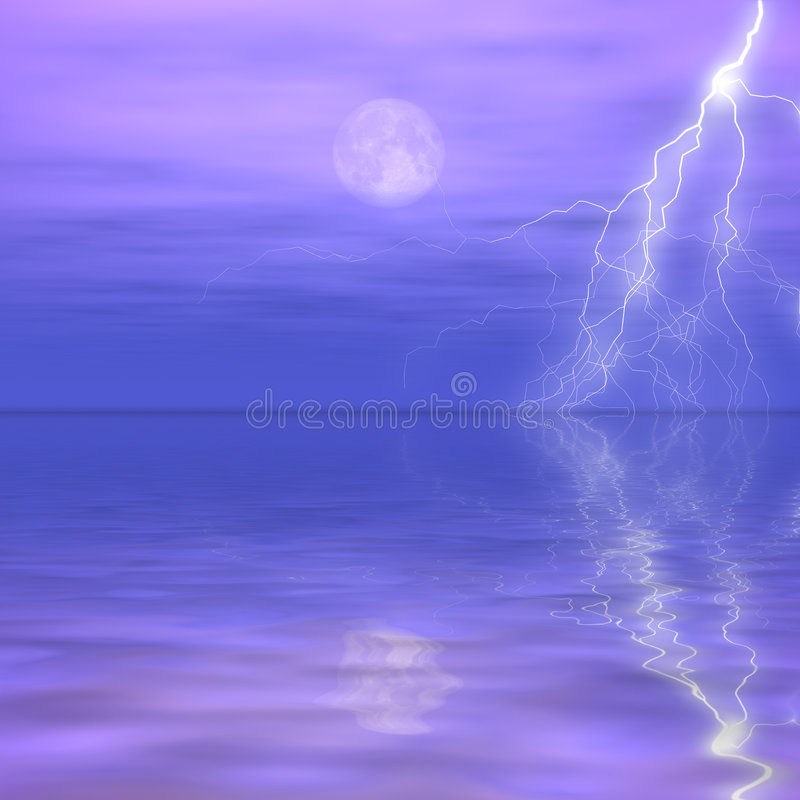 Entfernter Sturm stockbild