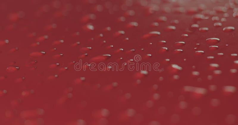 Entfettungsfarbe der roten Waschanlage des Nahaufnahmefokus tränken stockbild