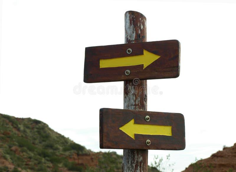 Entgegengesetzte Richtungen stockbild