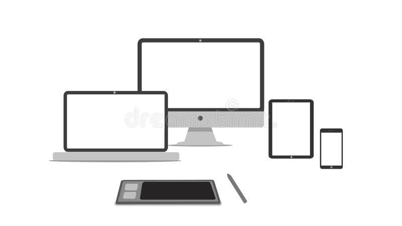 Entgegenkommende Designikone lizenzfreie stockfotografie