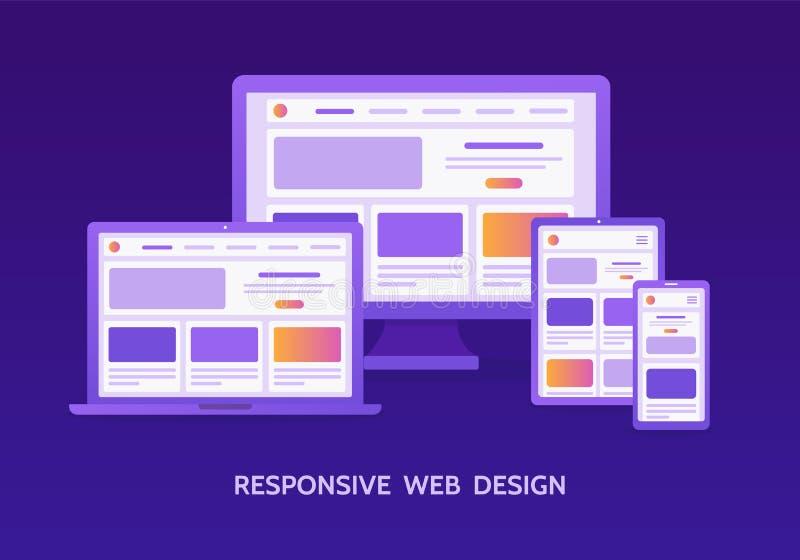Entgegenkommende Web-Auslegung stock abbildung