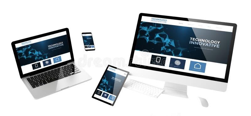 entgegenkommende Website der innovativen Technologie der Fliegengeräte lizenzfreie stockbilder