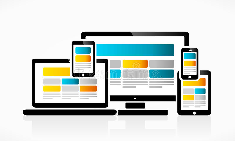Entgegenkommendes Webdesign vektor abbildung