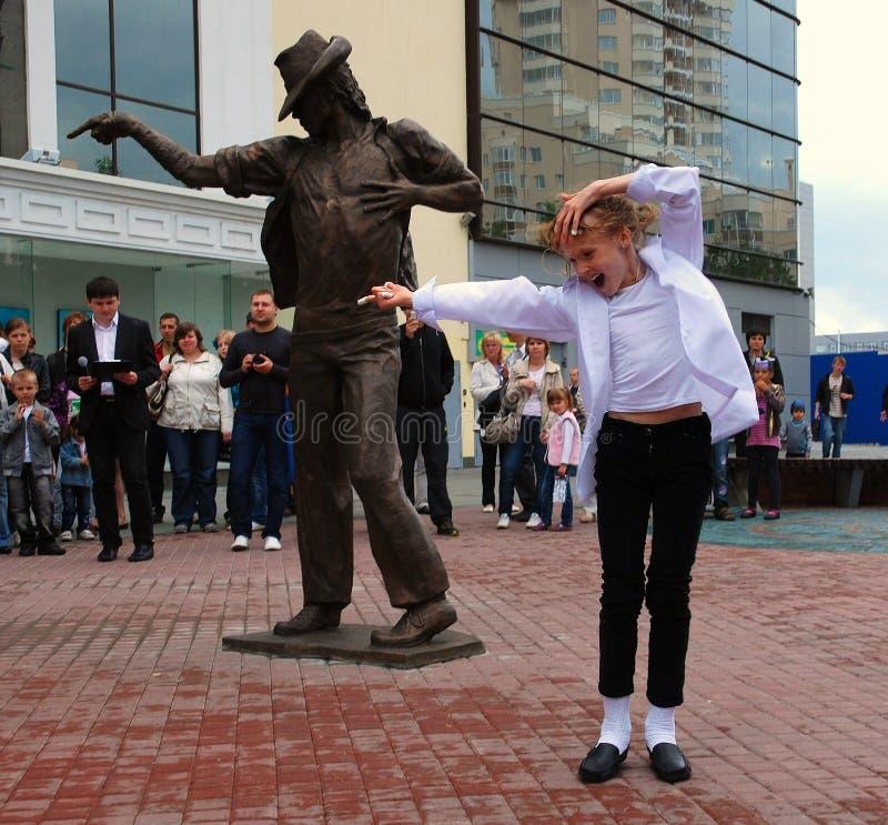 Enthüllung des Denkmales zu Michael Jackson. stockfoto