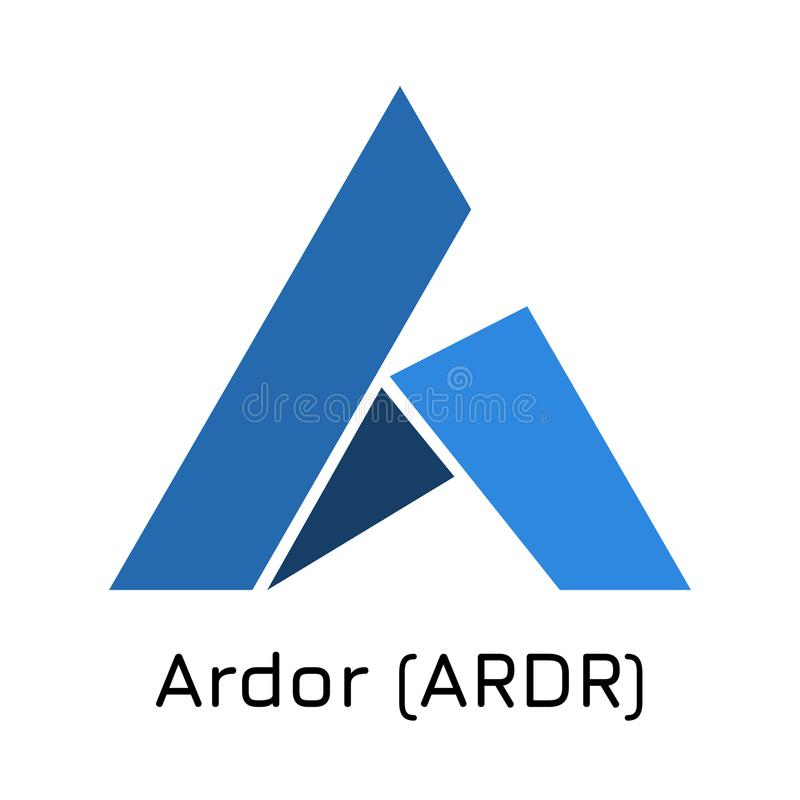 Enthousiasme ARDR Vectorillustratiecrypto muntstukico stock illustratie