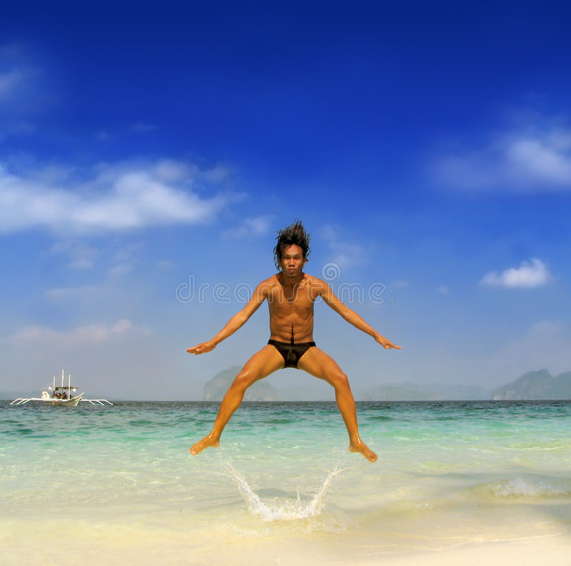 Enthousiast tropische Ferien stockbild