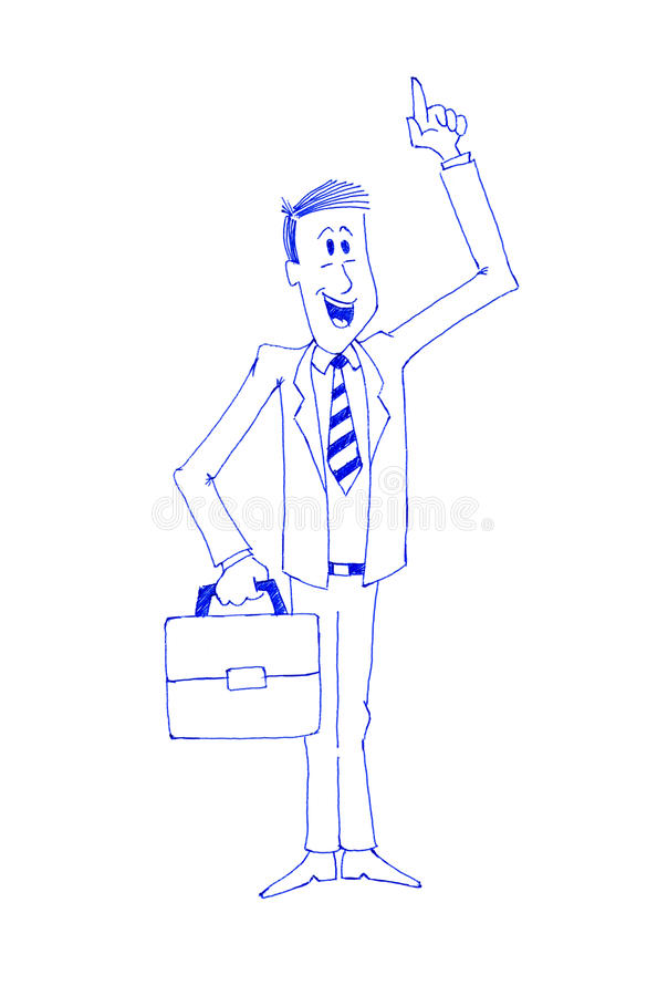 Enthusiastic Businessman Royalty Free Stock Photo