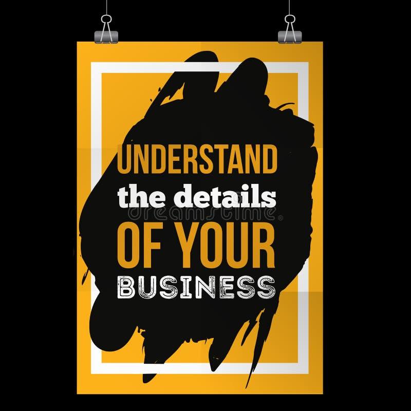 entienda los detalles de su negocio cita de motivación inspirada