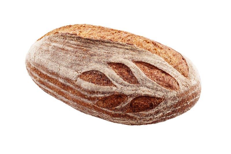 Entier écrit fraîchement a fait le pain cuire au four d'isolement sur le fond blanc photographie stock