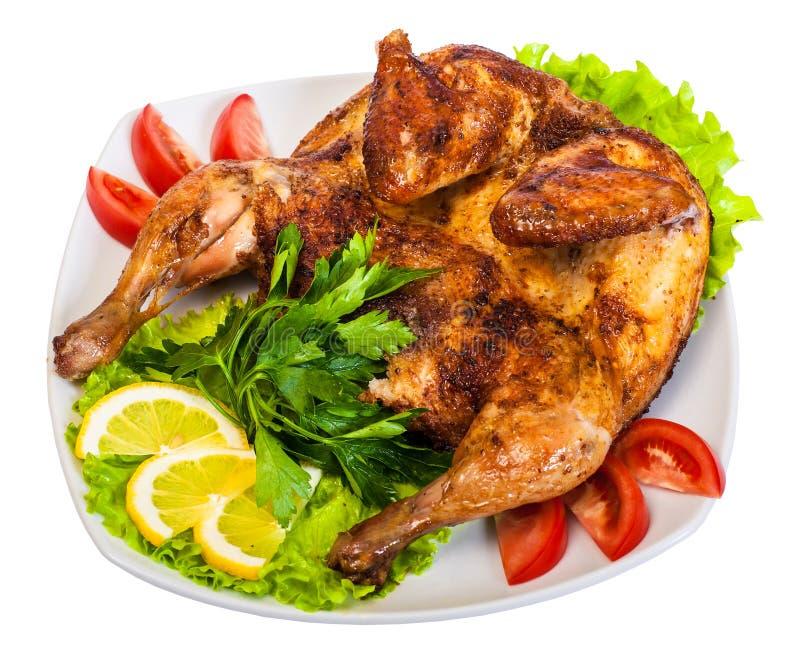 entier rôti par poulet photos stock