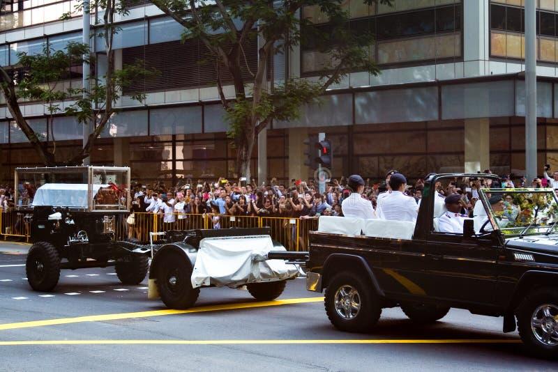 Entierro, ex primer ministro de Sr. Lee Kuan Yew de Singapur fotografía de archivo libre de regalías