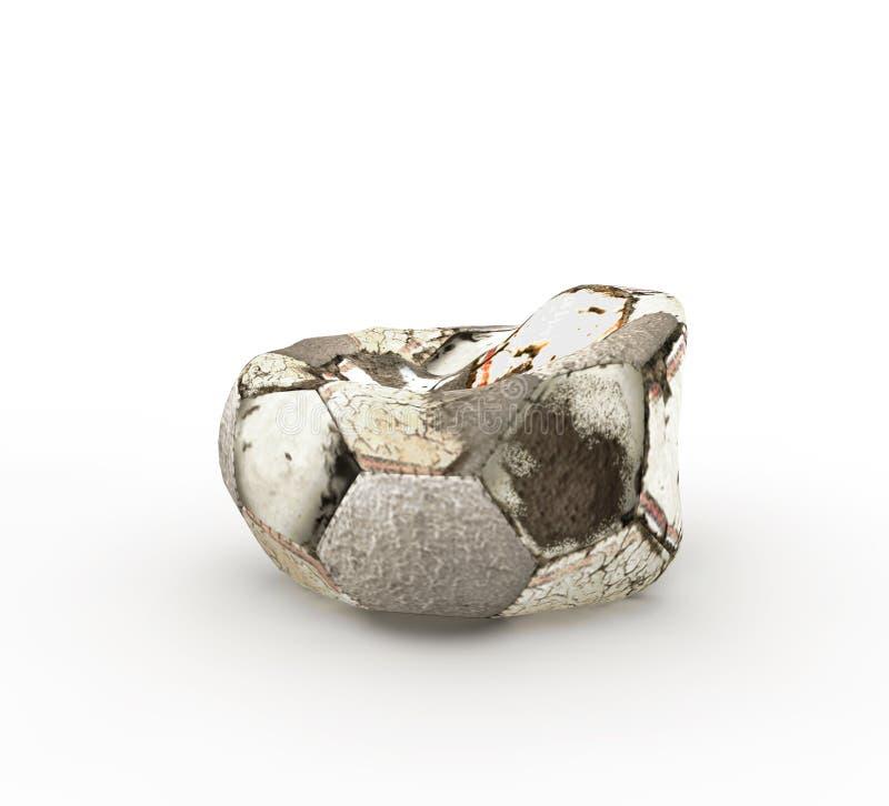 Entlüfteter Fußball stock abbildung