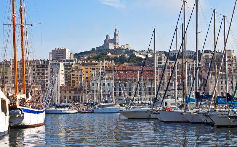 Entlang dem Kai Marseille stockfotografie
