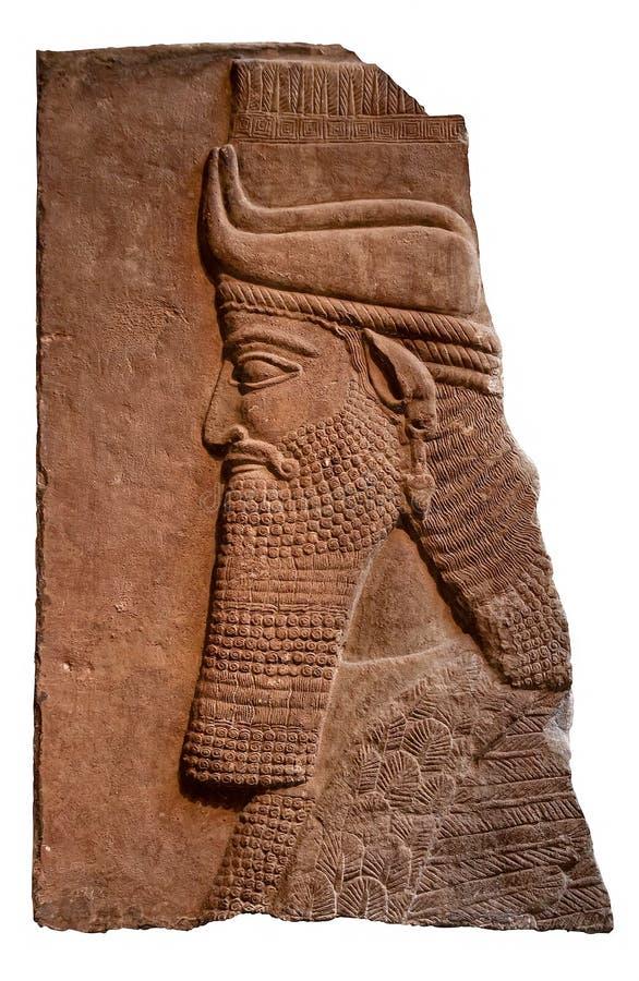 Entlastung eines alten assyrian Königs lizenzfreie stockfotografie