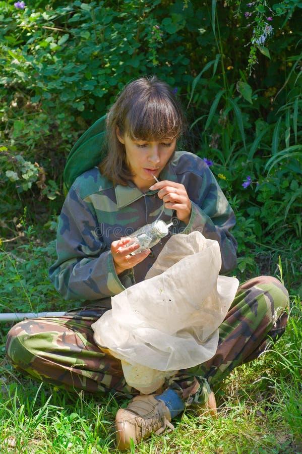 Entomologo 2 della donna fotografia stock libera da diritti