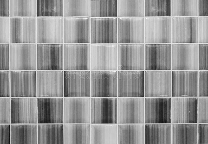 Entonig svartvit skinande Glass bakgrund för durk- eller väggtegelplatta som textureras för modern stil för inredesign fotografering för bildbyråer