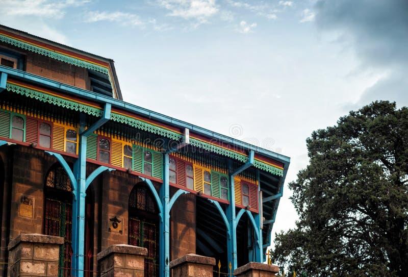 Entoto Maryam Church Addis Ababa Ethiopia royaltyfria bilder