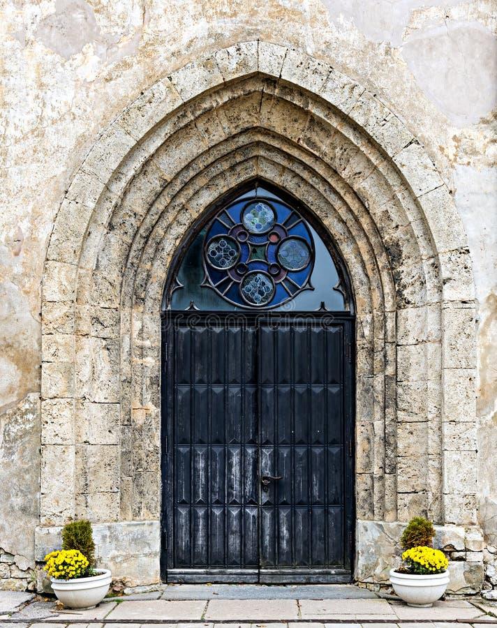 Entrée à l'église photographie stock