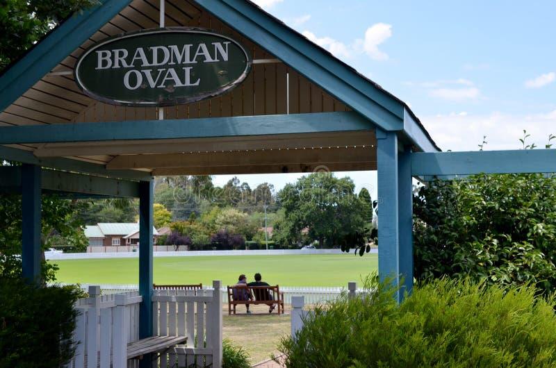 Entrée à l'ovale de cricket de Bradman image libre de droits