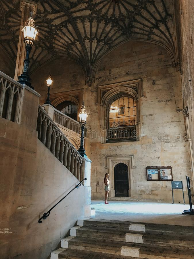 Entrée à la bibliothèque d'Oxford photographie stock libre de droits