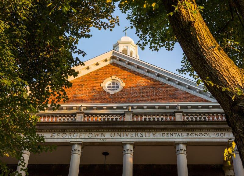 Entrée à la Faculté de Médecine d'université de Georgetown photos libres de droits
