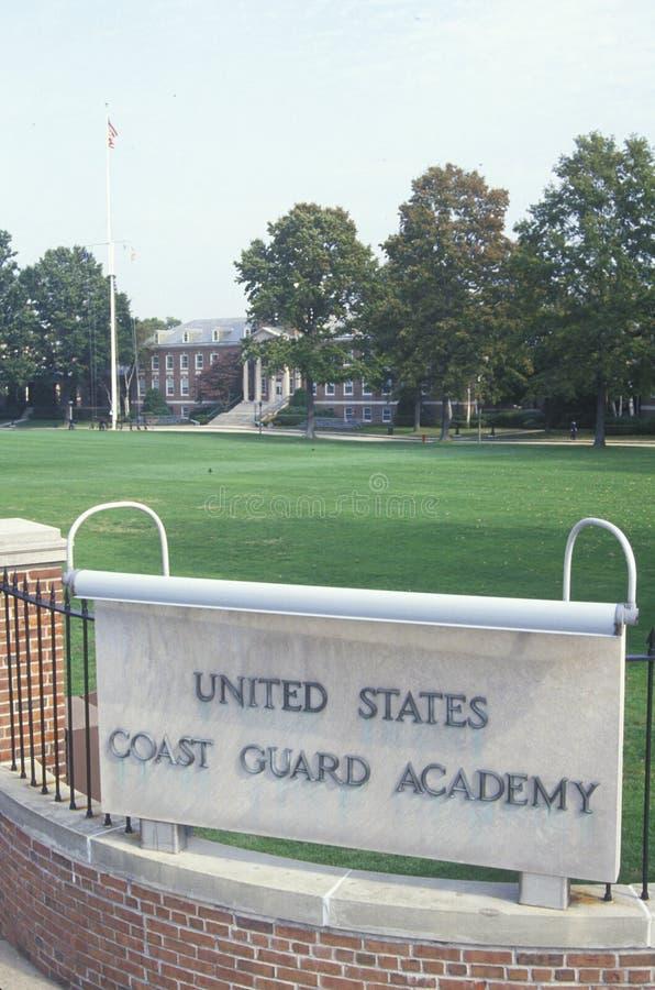 Entrée à la garde côtière des Etats-Unis Academy, nouvelle Londres, le Connecticut photographie stock