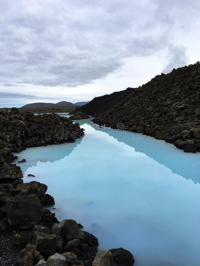 Entrée à la lagune bleue célèbre photographie stock