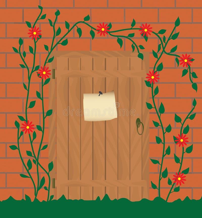 Entrée à la maison abandonnée illustration libre de droits