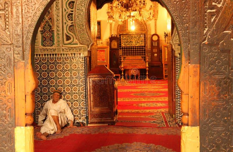 Entrée à la mosquée image stock