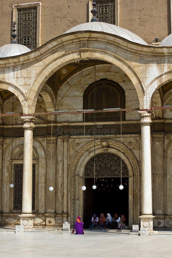 Entrée à la mosquée d'albâtre photo libre de droits