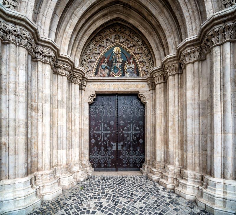 Entrée à Matthias Church image stock