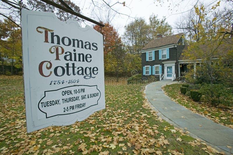 Entrée à Thomas Paine Cottage dans New Rochelle, New York photos stock