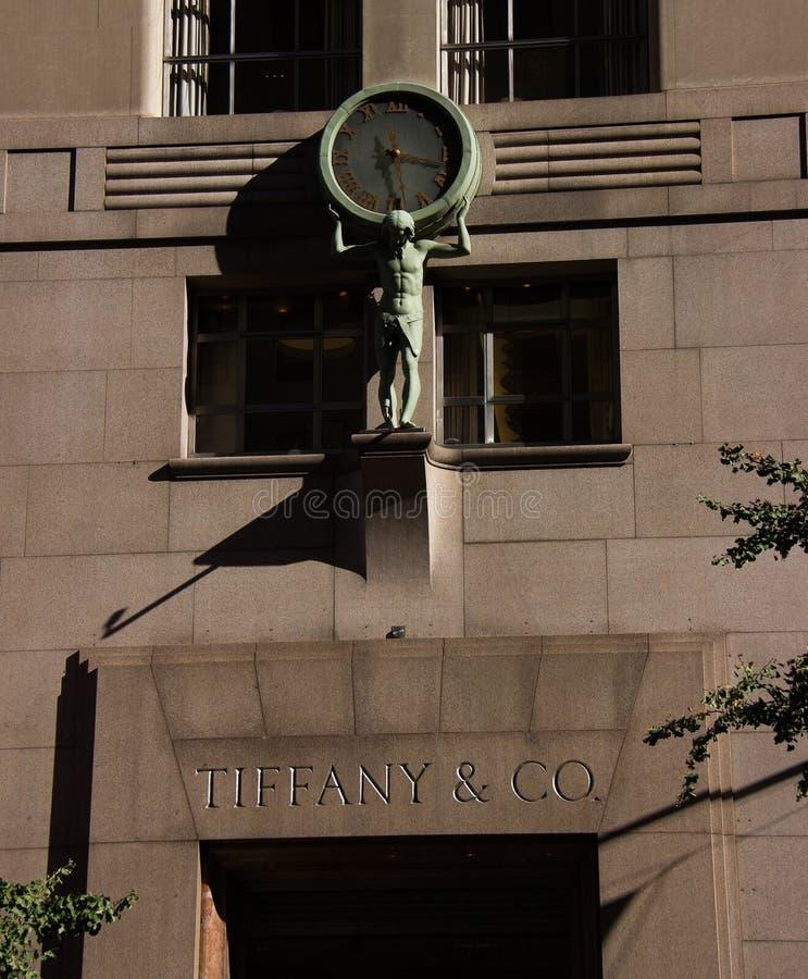 Entrée à Tiffany&Co image stock