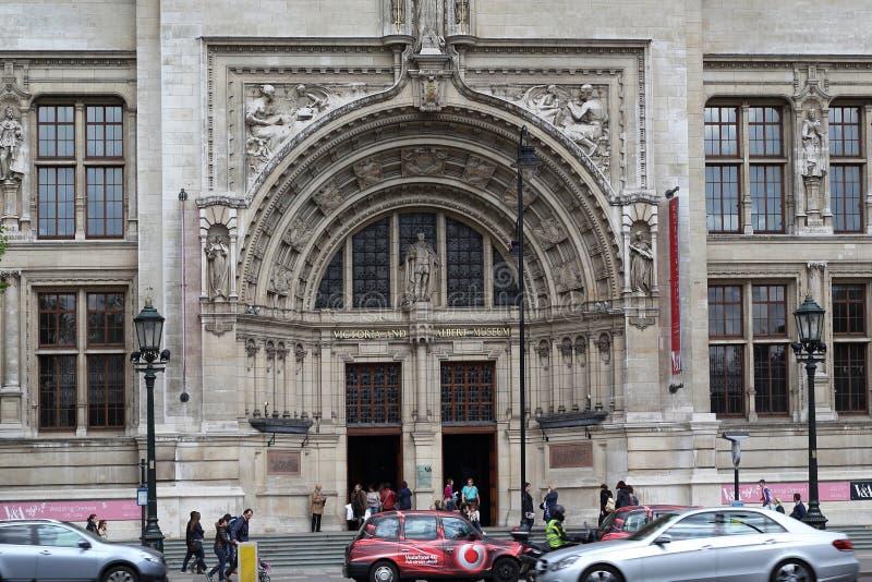 Entrée à Victoria et à Albert Museum, Londres photographie stock
