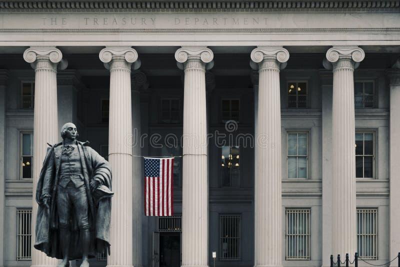 Entrée au bâtiment de trésor des Etats-Unis photographie stock libre de droits