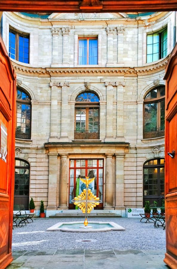 Entrée au musée de Genève de la réforme photo libre de droits