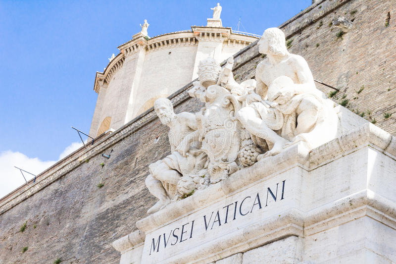 Entrée au musée de Vatican, Rome photo libre de droits