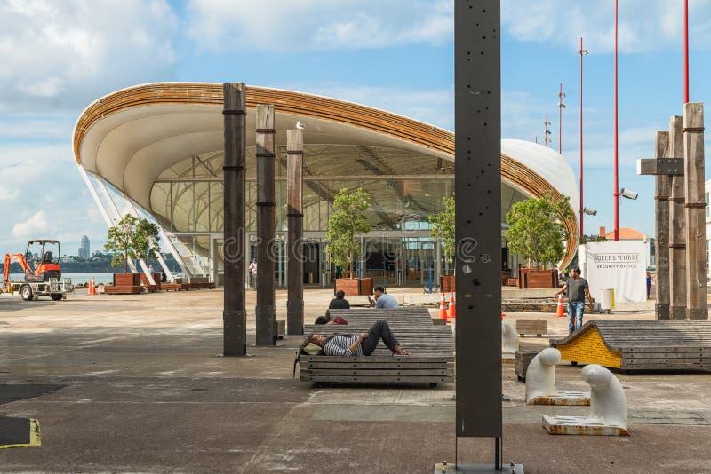 Entrée au nuage, quai de la Reine, Auckland, Nouvelle-Zélande photographie stock libre de droits